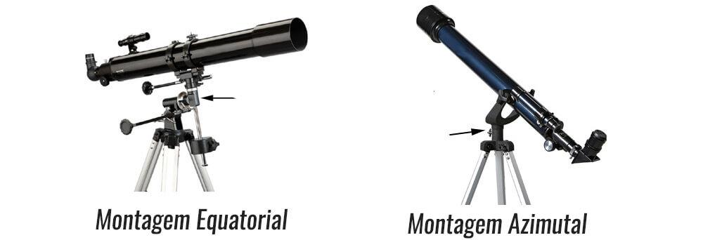 Montagem de telescopio